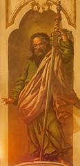 Seville - The fresco of St. Paul the apostle