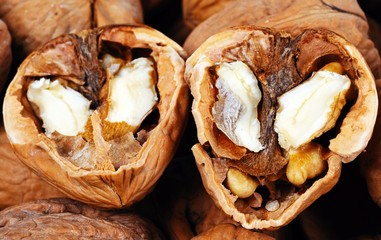 Walnuts in their shells © Arena Photo UK