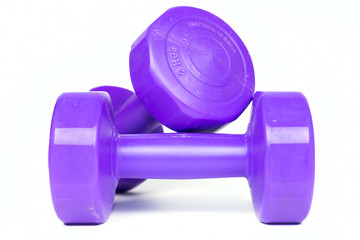 Two of dumbbells Isolated
