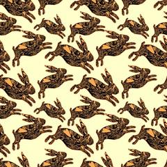 fashion textile pattern rabbit