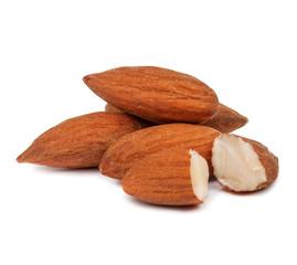 handful of almonds isolated