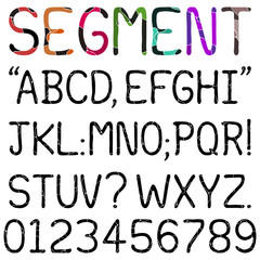 Handwritten Segment Font - Upper case