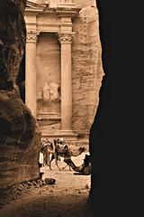 Petra in Sepia