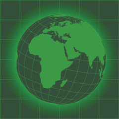 Europe and Africa green