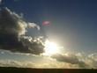 canvas print picture - Wolken im Feld