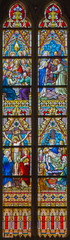 Bruges - The windowpane winh the New Testamens scenes