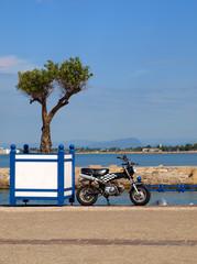 Cyclo en bord de mer