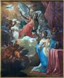 Bruges - The Annunciation paint in Jakobskerk
