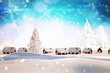 canvas print picture - Composite image of snow covered village