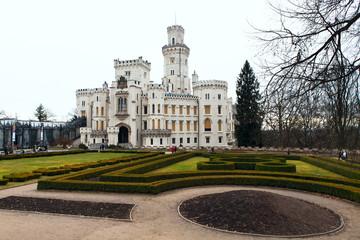 Castle Hluboka nad Vltavou. Czech Republic