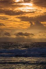 Sunset at the sea. Mirissa, Sri Lanka
