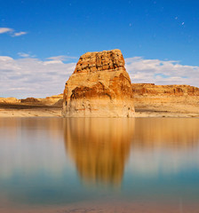 Lake Powell national  night landscape in Utah USA
