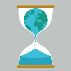 Earth hourglass