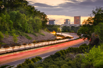 Greenville, South Carolina Highway and Downtown View