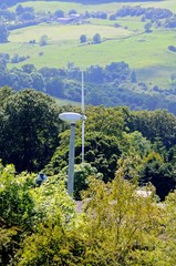 Wind generator on hillside © Arena Photo UK