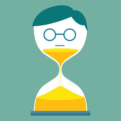 Man with hourglass
