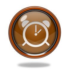 alarm circular icon on white background