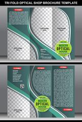 Tri Fold Oprtical Shop Brochure template