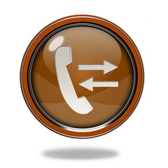 calls circular icon on white background