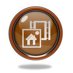media circular icon on white background