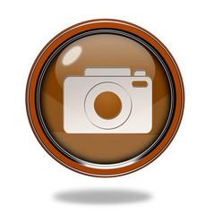 photo circular icon on white background