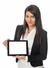 Businessfrau mit Tablet Pc