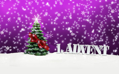 1. Advent - gifts - pink - Snow