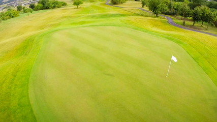 Aerial footage of green
