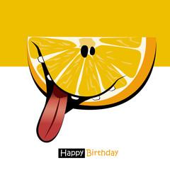 Happy Birthday smile sweet orange cartoon