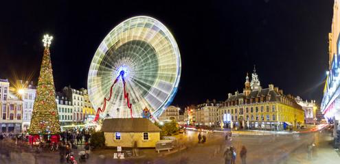 Grande roue à Lille à Noël
