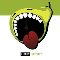 Happy Birthday smile sweet pear