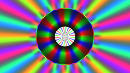 Rainbow waves generated seamless loop video