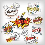Fototapety Comic boom set