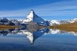 Matterhorn mirroring in lake Stellisee
