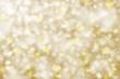 Blurry golden snowfall background