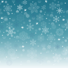 vector version new year background with snowflake