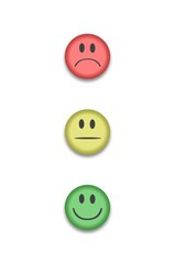 Bewertungs-set Smileys