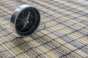 Compass with bamboo mat