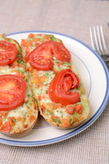 Baguettes with tomato pesto