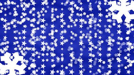 Weihnachtspost in blau