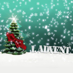 1. Advent - gifts - turquoise - Snow
