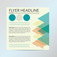 Vector flyer graphic design Layout vector template