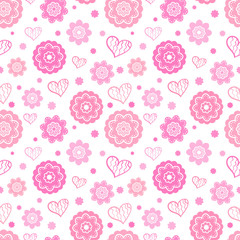 Romantic seamless pattern. Vector illustration