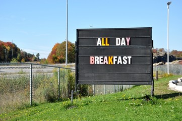 All day breakfast sign