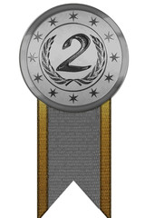 Vector Medal - Second Place with Ribbon