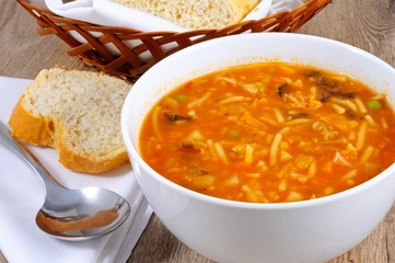 Minestrone soup © Arena Photo UK