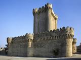 Quadrangular castle in Mardakan. Azerbaijan