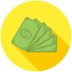 Dollar banknotes icon