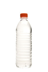 Bottle Of Water Isolated On White