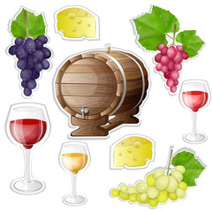 Wine stickers elements